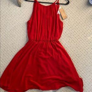 Francesca's Nadwell Flawless Dress Red